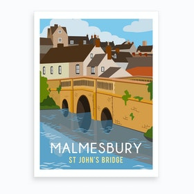 Malmesbury St John Bridge Art Print