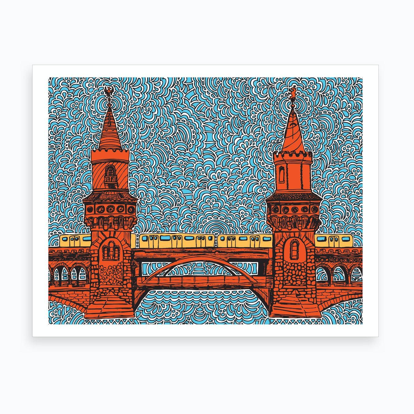 Berlin Oberbaumbrucke Art Print