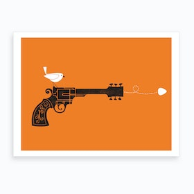Sock It Orange Art Print