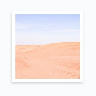 Sandy Desert Landscape Art Print