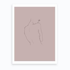Relationships 31 Blush Art Print