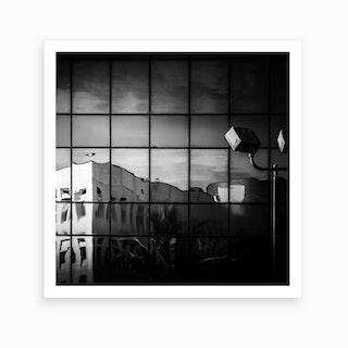 Melt Down Black And White 2 Art Print