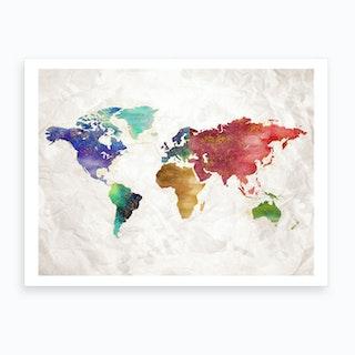 Artistic World Map Ii Art Print