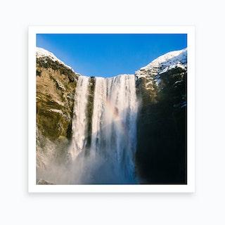 Iceland Waterfall Of Skogafoss Art Print