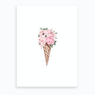 Flower Ice Cream Art Print