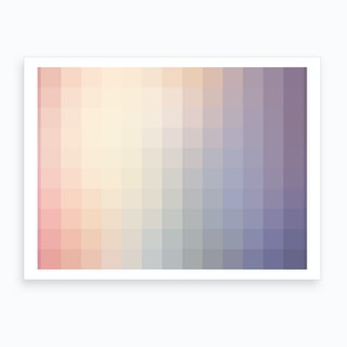 Lumen 05, Lilac, White and Violet Gradient Art Print