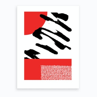 Abstract Red And Black Art Print