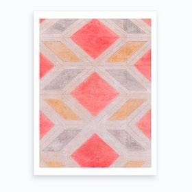 Malaga Harlequin Pattern Art Print