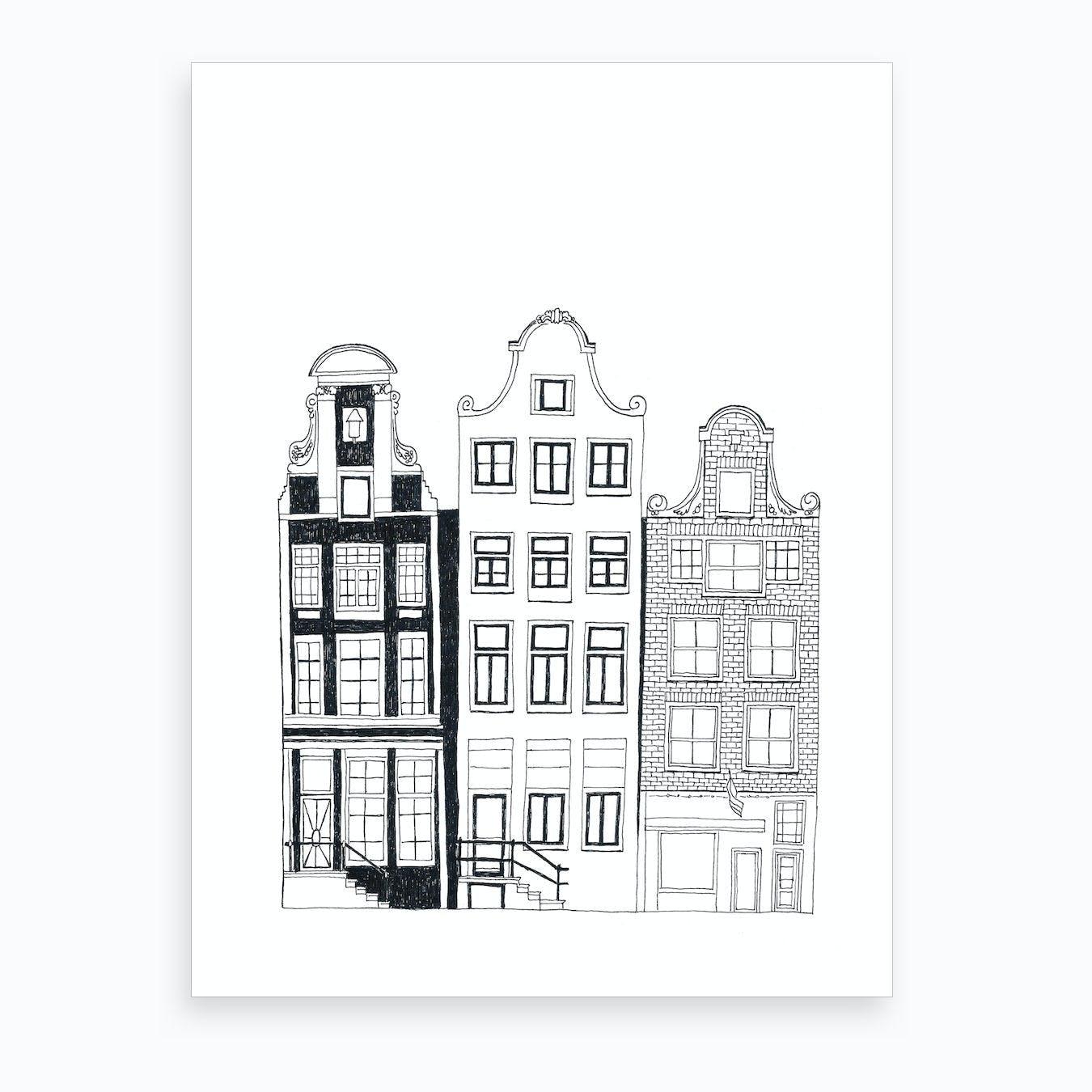 City Lights   Amsterdam Art Print