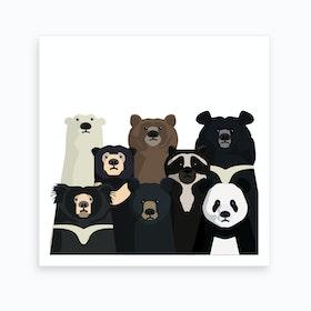 Bear Family Portrait Art Print