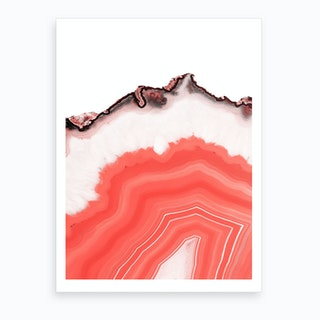 Living Coral Agate Art Print
