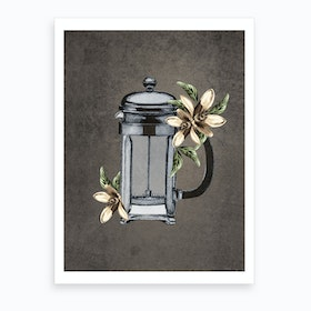 Botanical Frenchpress Art Print
