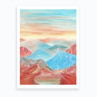 Lines In The Mountains Xx Art Print