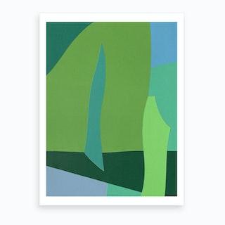 Green Fantasy 2  Art Print