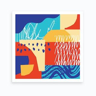 Colourful Shape Study 2 Art Print