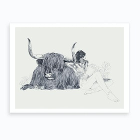 A Wandering Bull A Taurus Study Art Print