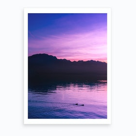 Dusk And Ducks Art Print