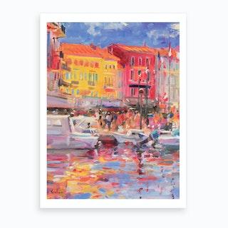 Le Port De St Tropez Art Print