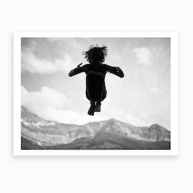 Falling Boy Art Print