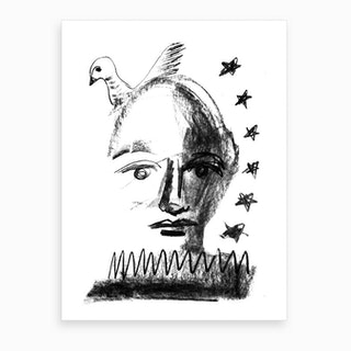 The Dove And The Boy And The Falling Star Art Print