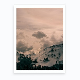 Mountains And Clouds Art Print