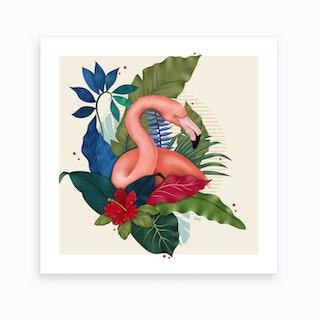 The Flamingo I Art Print