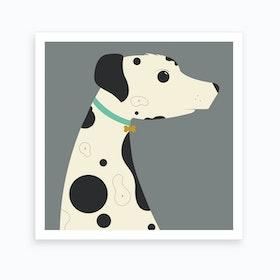 Dalmatian Square Art Print