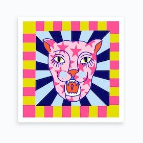 Psychodelic Panther L Art Print