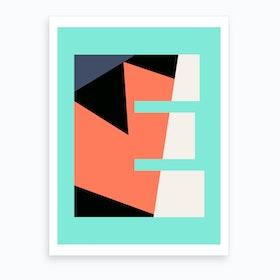 Letter E  Art Print