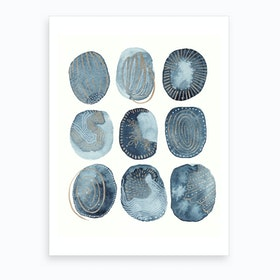 Indigo Watercolorink 4 Art Print