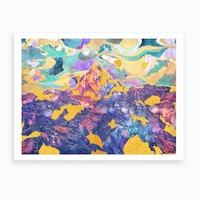 Dreamy Mountain Ii Art Print