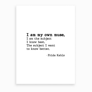 Muse By Frida Kahlo Art Print