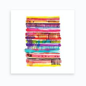Irregular Watercolor Lines Art Print