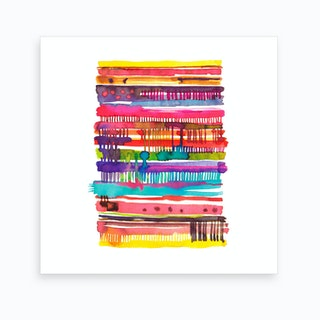 Irregular Watercolor Lines Art Print