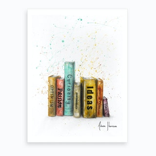 Books Of Thought  Art Print