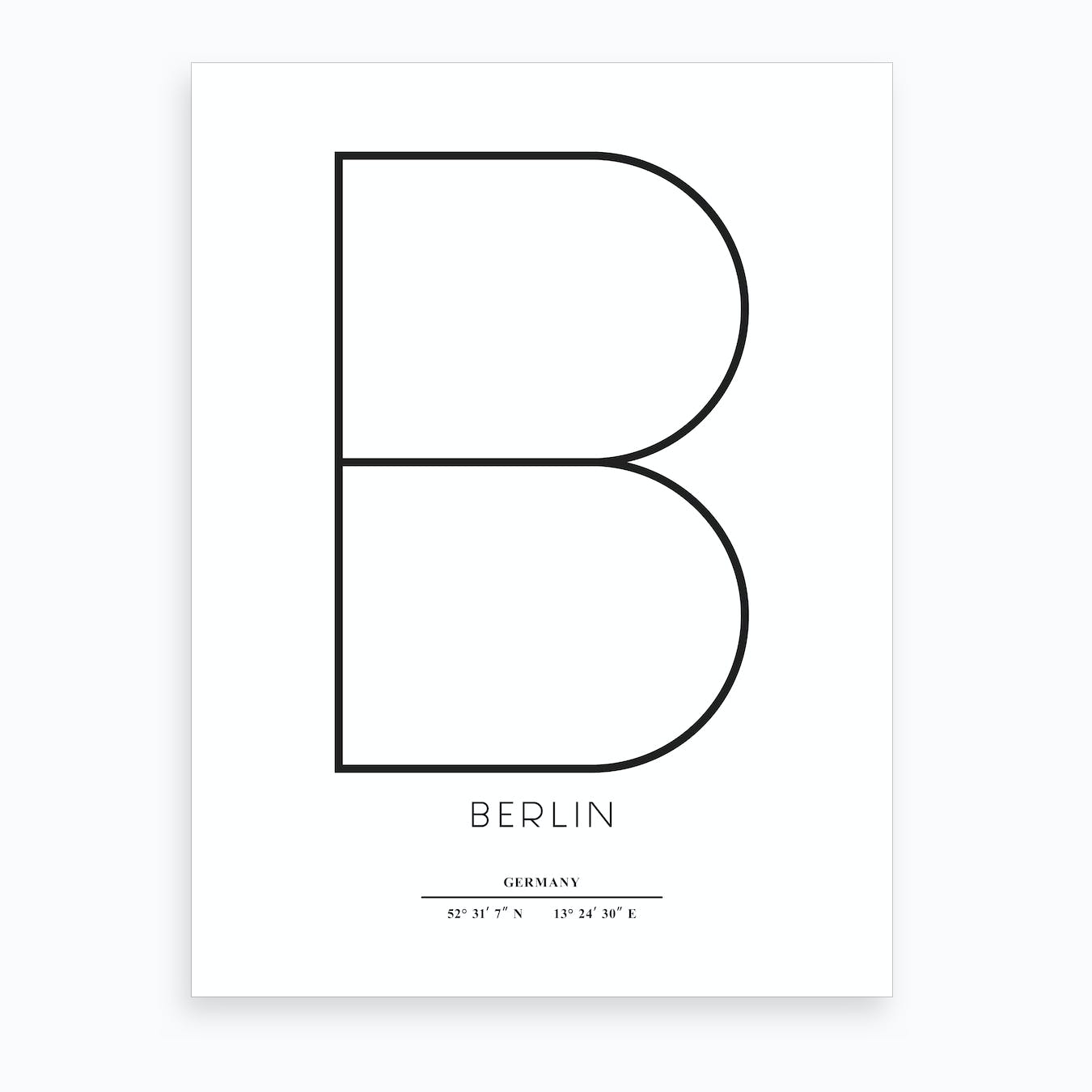 Abstract Berlin Art Print