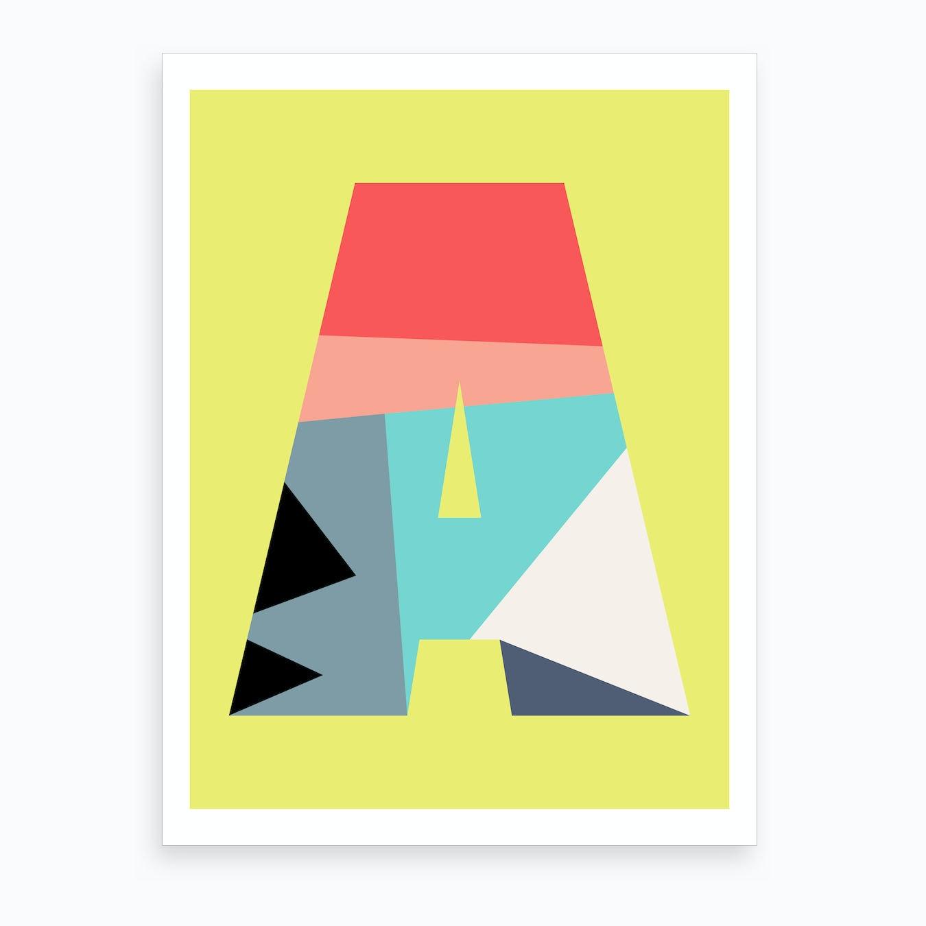 Letter Art Print.Letter A Art Print