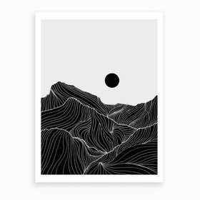 Lines In The Mountains Xxv Art Print