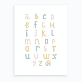 Rainbow Alphabet Art Print