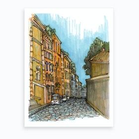 Roman Narrow Streets Art Print