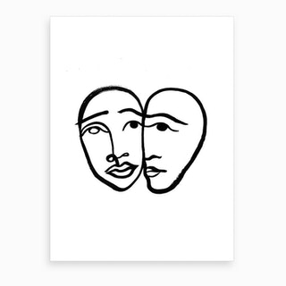 Faces 1 Art Print