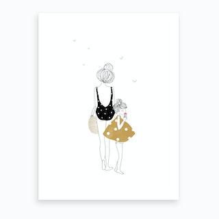 Balade Fille Art Print