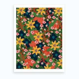 Jungle Floral Art Print