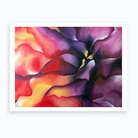 Nebula Flower Art Print