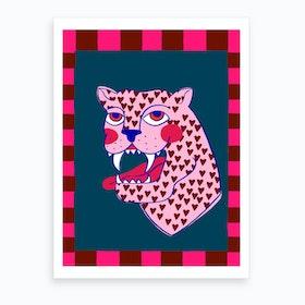 Hearts Panther Art Print