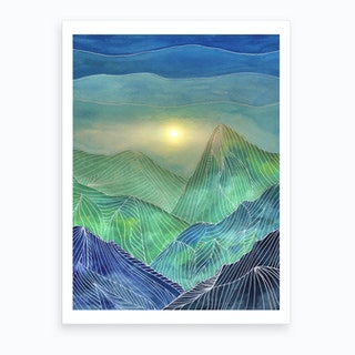 Lines In The Mountains V Art Print
