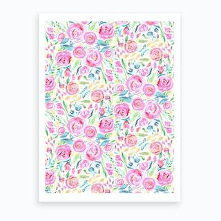Spring Days Pink Art Print