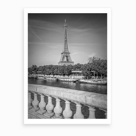 Paris Eiffel Tower & River Seine Art Print
