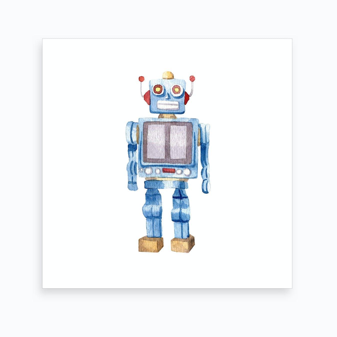 Fine Decor Tech Robot Cartoon Blue Black Grey Silver Boys Bedroom Nursery Border