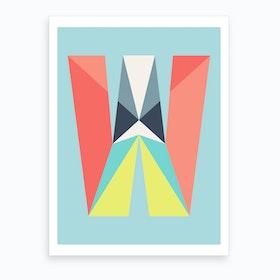 Letter W  Art Print